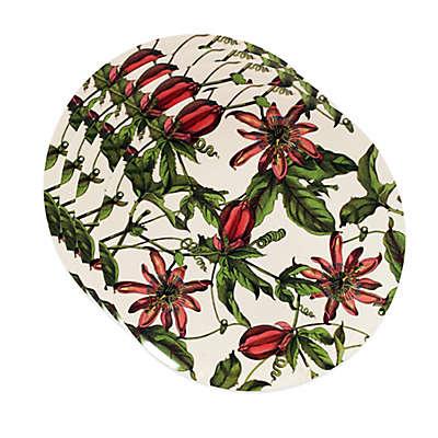 Caskata Studio Pink Passion 4-Piece Canape Plate Set