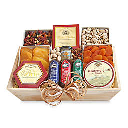 Meat & Cheese Wooden Deluxe Gift Crate