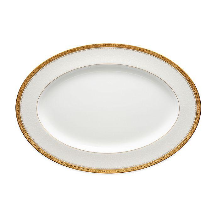 Alternate image 1 for Noritake® Odessa Gold 16-Inch Oval Platter