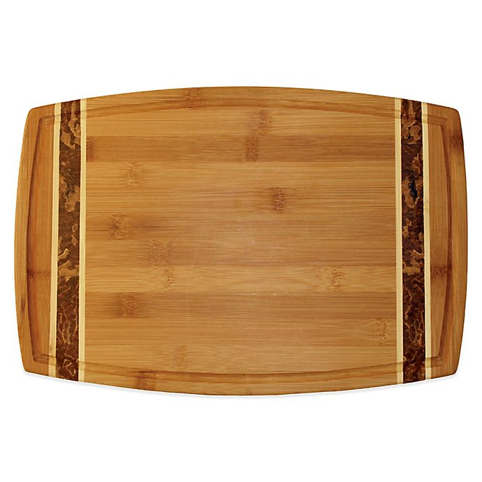 Alternate image 1 for Totally Bamboo™ 15-Inch Marbled Bamboo Cutting Board