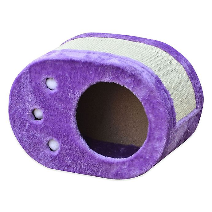 Alternate image 1 for Pet Pals Paw Shaped Cat Scratch Box with Sisal in Purple