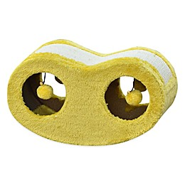 Pet Pals Cradle Shape Cat Scratching Board with Sisal in Yellow