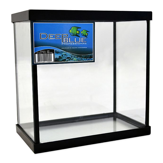 Alternate image 1 for Deep Blue Professional 1-Gallon 2-Way Betta Tank with Black Frame