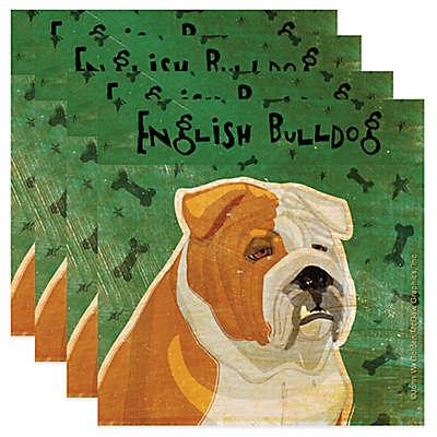 "Thirstystone® ""English Bulldog"" Coasters (Set of 4)"