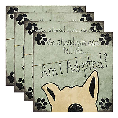 """Thirstystone® """"Am I Adopted?"""" Coasters (Set of 4)"""