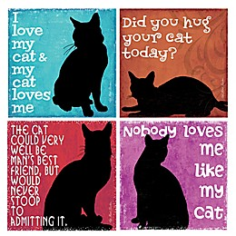 "Thirstystone® ""Nobody Loves Me Like My Cat"" Coasters (Set of 4)"