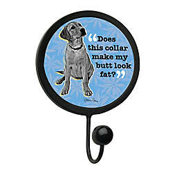 "Thirstystone ""Does This Make Me Look Fat"" Leash Hook in Black"