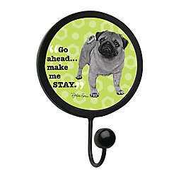 "Thirstystone ""Make Me Stay"" Leash Hook in Black"