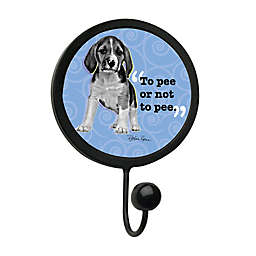 "Thirstystone ""To Pee or Not To Pee"" Leash Hook in Black"