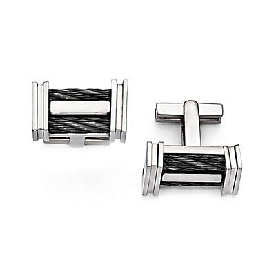 Edward Mirell Titanium Memory Cable Cufflinks