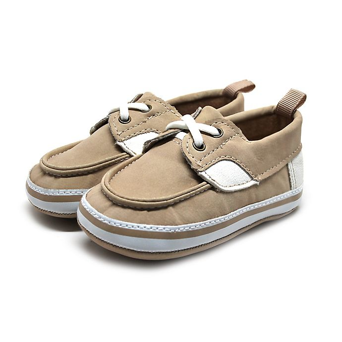 Alternate image 1 for Stepping Stones Boat Shoe in Tan/Cream
