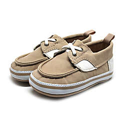 Stepping Stones Boat Shoe in Tan/Cream