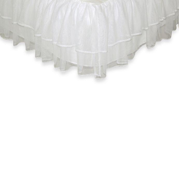 Alternate image 1 for Tadpoles™ by Sleeping Partners Tulle Triple Layer Full Bed Skirt in White