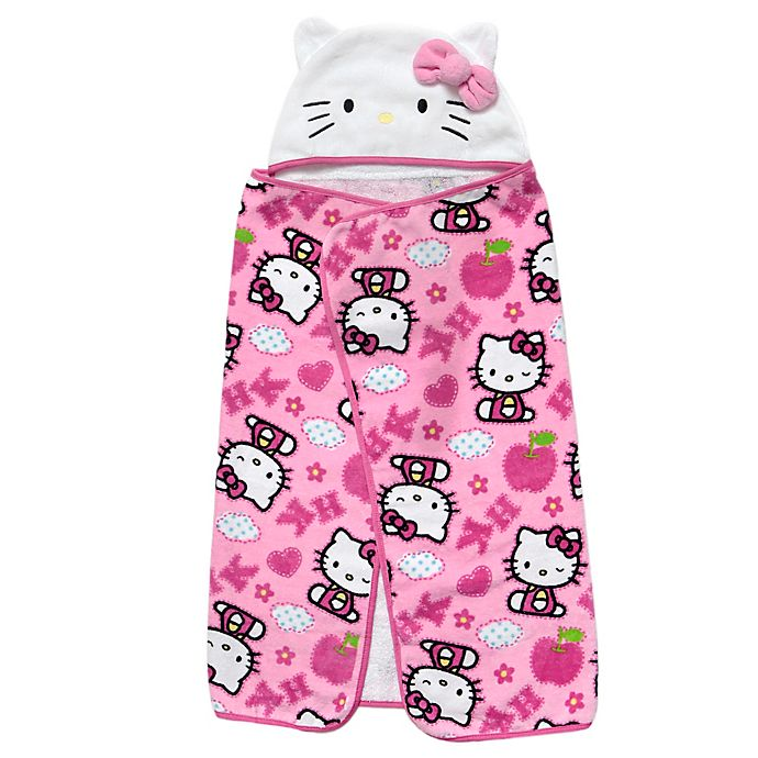 Alternate image 1 for Baby Boom Hello Kitty Infant Hooded Towel