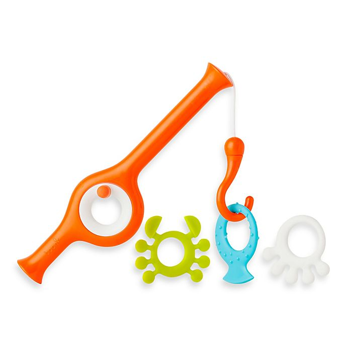 Alternate image 1 for Boon® CAST Fishing Pole Bath Toy in Orange/Multi