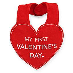 "Carter's® ""My First Valentine's Day"" Heart Bib in Red/White"