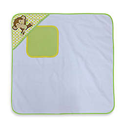 Neat Solutions® 2-Piece Happy Monkey Terry Hooded Towel and Washcloth Set
