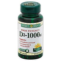 Nature's Bounty® 120-Count High Potency D-1000IU Rapid Release Liquid Softgels