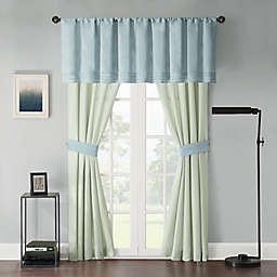 Beechwood Window Curtain Panel Pair and Valance