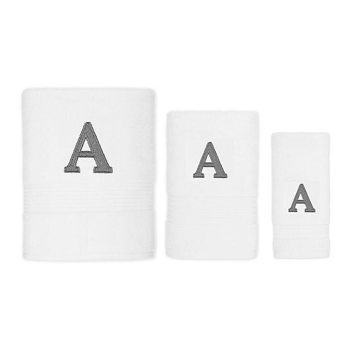 Alternate image 1 for Avanti Monogram Block Letter Hand Towel