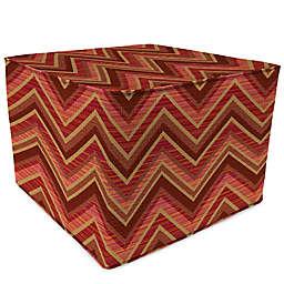 Print 20-Inch Square Outdoor Square Pouf Ottoman in Sunbrella® Fabric