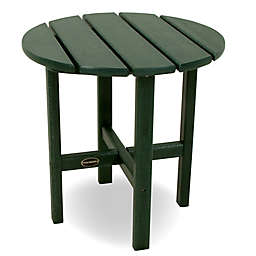 POLYWOOD® 18-Inch Round Side Table in Green