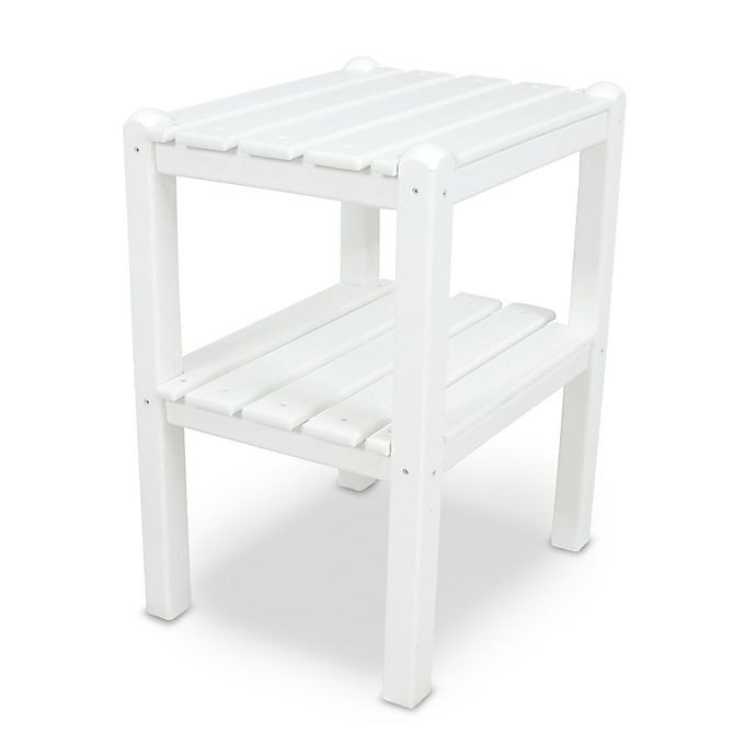 Alternate image 1 for POLYWOOD® 2 Shelf Side Table in White
