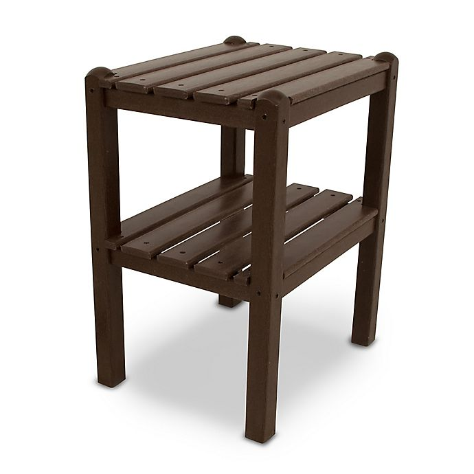 Alternate image 1 for POLYWOOD® 2 Shelf Side Table in Mahogany