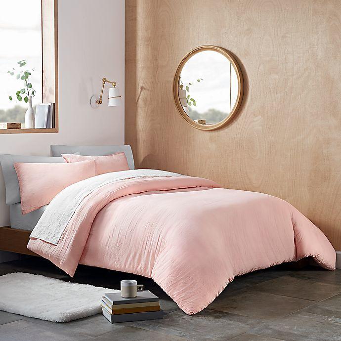 Alternate image 1 for UGG® Devon 3-Piece Reversible Full/Queen Comforter Set in Blush Sunset