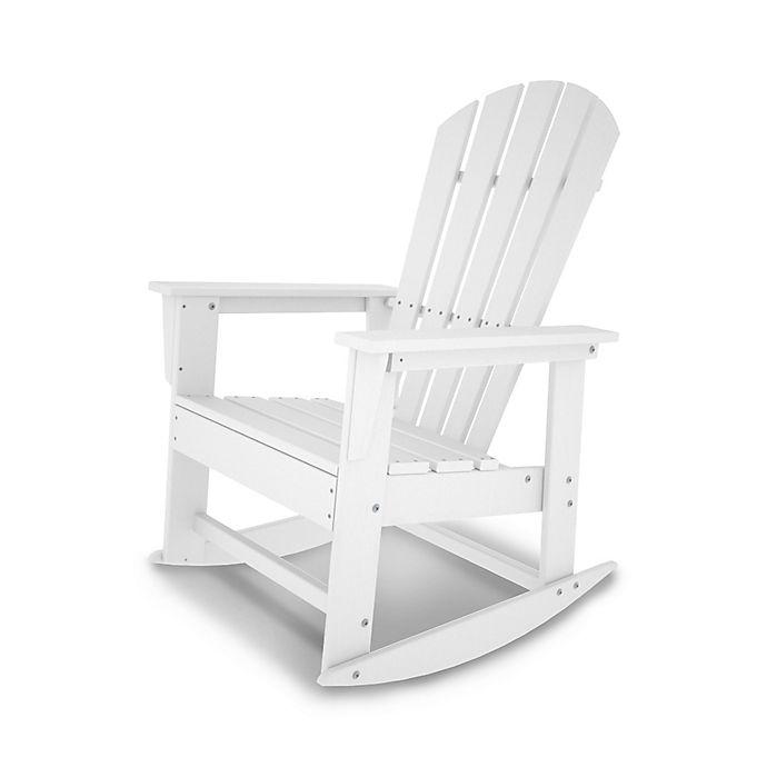 Cool Polywood South Beach Rocker In White Bed Bath Beyond Machost Co Dining Chair Design Ideas Machostcouk