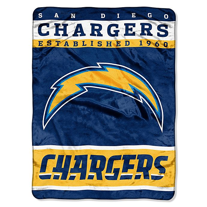 San Diego Chargers Blanket: Buy NFL San Diego Chargers Strike Raschel Oversized Throw