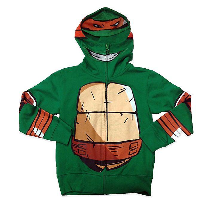 Alternate image 1 for Nickelodeon TMNT Michelangelo Costume Hoodie