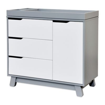 Babyletto Hudson 3 Drawer Changer Dresser In Grey And White | Buybuy BABY
