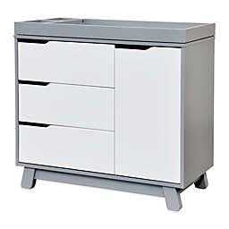 Babyletto Hudson 3-Drawer Changer Dresser in Grey and White