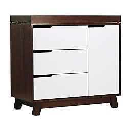 Babyletto Hudson 3-Drawer Changer Dresser in Espresso and White