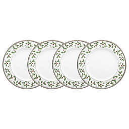 Noritake® Rochelle Platinum Holiday Accent Plate (Set of 4)