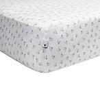 Burt's Bees Baby® Honeybee 100% Organic Cotton Fitted Crib Sheet in Heather Grey