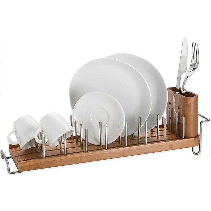 Alternate image 1 for Bamboo Dish Rack and Drainer