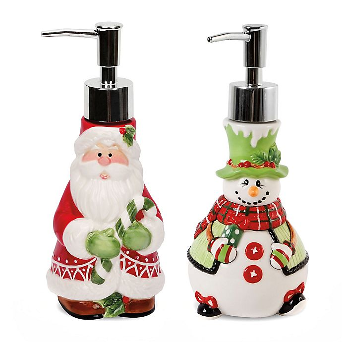 Fitz And Floyd 174 Holiday Soap Dispensers Set Of 2 Bed