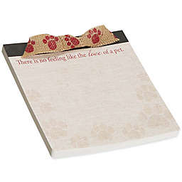 """CR Gibson """"There's No Feeling Like the Love of a Pet"""" Love Deluxe Notepad with Ribbon"""