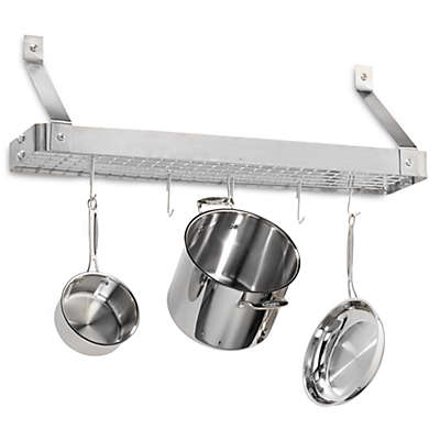 Cuisinart® Brushed Stainless Steel Rectangular Bookshelf Pot Rack