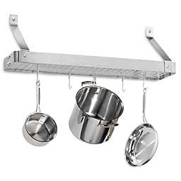 Cuisinart® Brushed Stainless Steel Rectangular Bookshelf Pot Rack