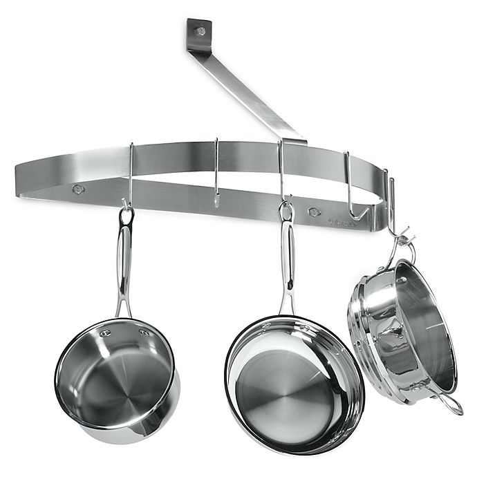 Alternate image 1 for Cuisinart® Brushed Stainless Steel Half Circle Wall Pot Rack