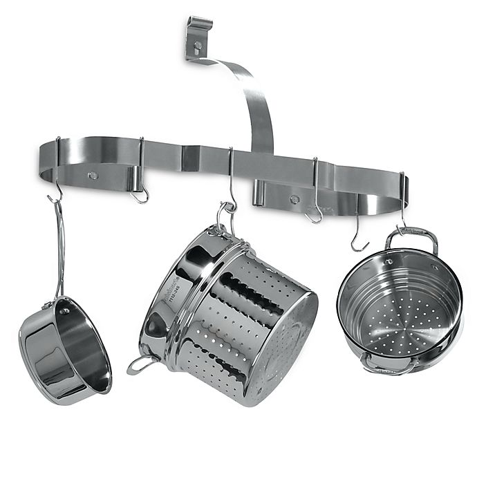 Alternate image 1 for Cuisinart® Brushed Stainless Steel Oval Wall Pot Rack