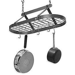 Enclume® Decor Classic Hammered Steel Oval Pot Rack