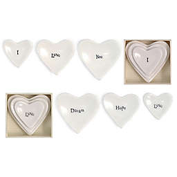 Two's Company® Stackable Heart Ring Dish (Set of 3)