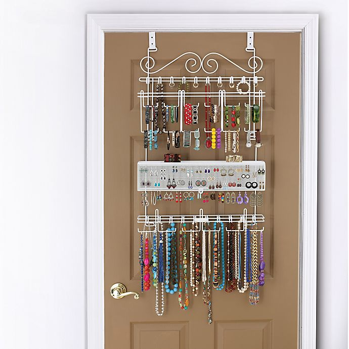 Alternate image 1 for Over-the-Door Jewelry Organizer in White