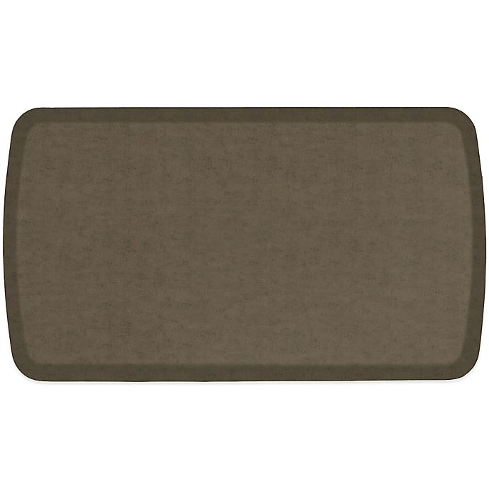 Alternate image 1 for GelPro® Elite 20-Inch x 36-Inch Vintage Leather Comfort Floor Mat in Mushroom