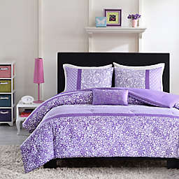 Mizone Riley Reversible Comforter Set in Purple