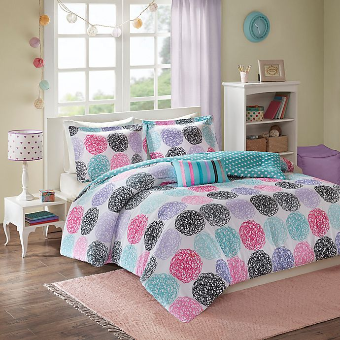 Alternate image 1 for Mi Zone Carly Twin/Twin XL Comforter Set in Purple